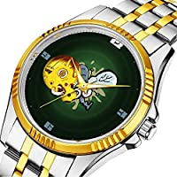 時計、機械式時計 メンズウォッチクラシックスタイルのメカニカルウォッチスケルトンステンレススチールタイムレスデザインメカニ (ゴールド)-366. 墜落着陸飛行