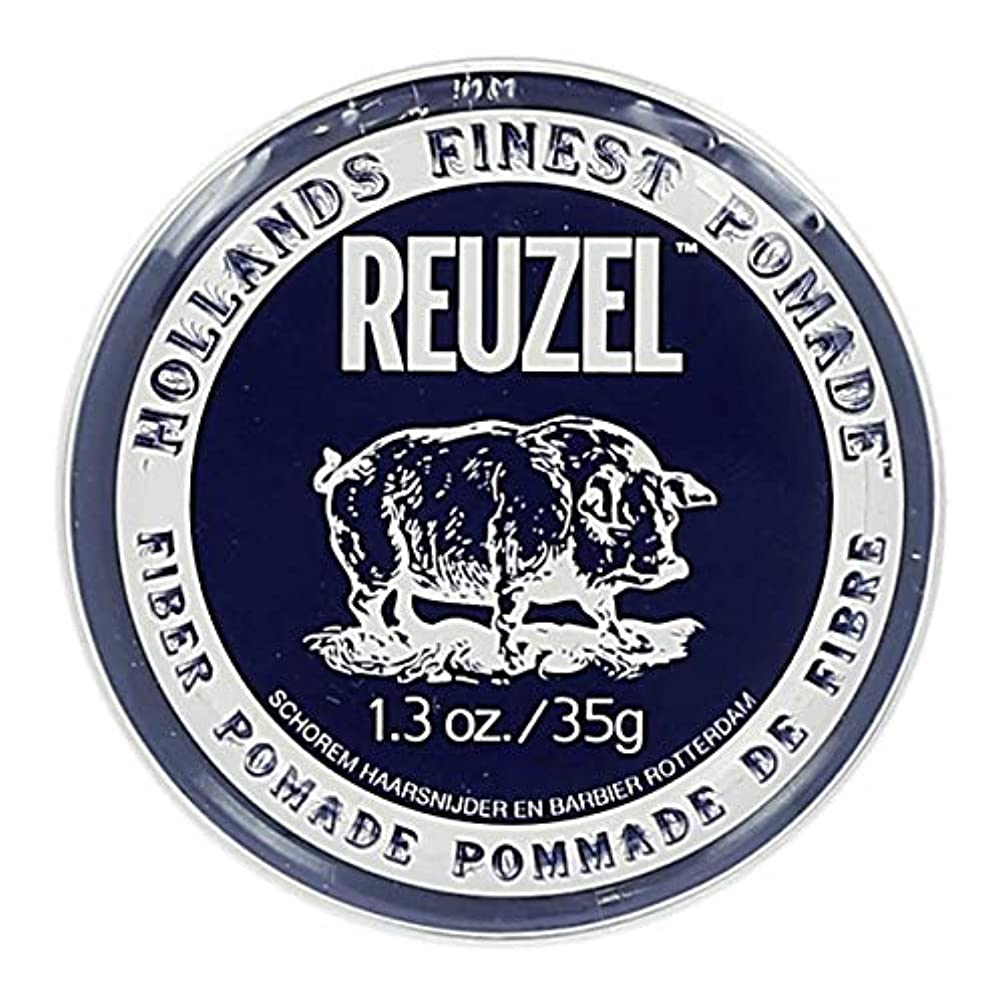 フロント香水蓋ルーゾー ネイビー ファイバー ポマード Reuzel Navy Fiber Pomade 35 g [並行輸入品]
