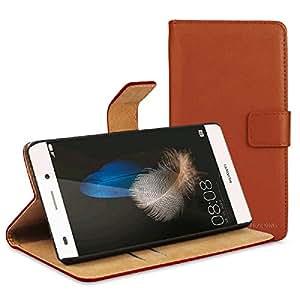 V.T.C. Huawei P8lite / LUMIERE 503HW ケース カバー 手帳型 レザー ブラウン