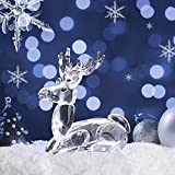 H&D Clear Crystal Collectible Figurine Mini Animal Statue Deer
