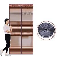 大型メッシュ カーテン, 超静かな暗号化 磁気スクリーン ドア 完全なフレームのシールが自動的にシャット ダウン 蚊ストリップ ドア カーテン-I 80x210cm(31x83inch)