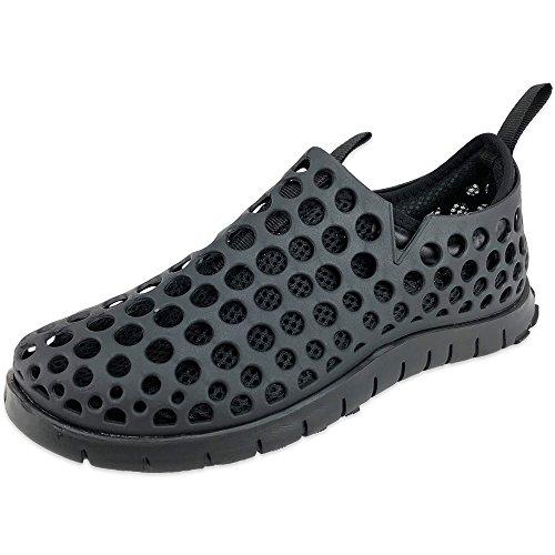 【超軽量】 サンダル メンズ 靴 スリッポン アウトドア サンダル スポーツサンダル 紳士靴 メンズ靴 ((L)25.5cm~26.0cm, BL/BL)