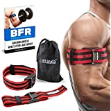 """BFR BANDS Occlusion Training Bands Pro X Model, 2 Pack, Blood Flow Restriction Bands With Research Backed 2"""" Width Pull To Tighten + Quick Release + Pinch Free Buckle, Multiple Patents Pending"""