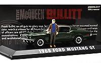 "GREENLIGHT 1:43SCALE ""BULLITT - 1968 FORD MUSTANG GT w/McQueen FIGURE"" グリーンライト 1:43スケール 「ブリット - 1968 フォード マスタング GT ウィズ マックイーン フィギア」 86511"