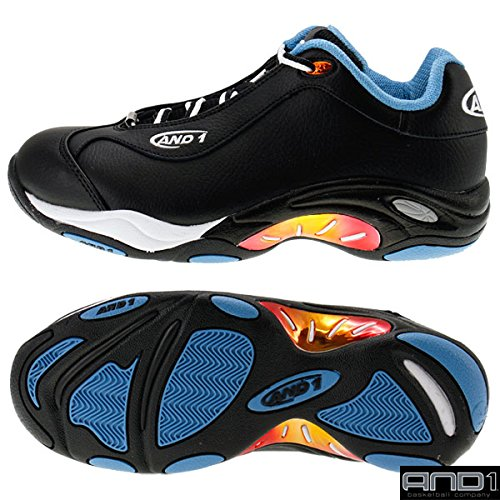 [アンドワン] AND1 TAI CHI LOW D301MBL MBL (Black/Cendre Blue-Nasturtium/9.0(27.0))