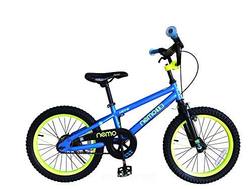 ROCKBROS(ロックブロス) 子供用 自転車 かわいい 18インチ男の子にも女の子にも! 安心のキャリパーブレーキ、バンドブレーキ仕様 ※18インチには補助輪は付属しません。 児童用 お子様のこだわりにもぴったりフィットするカラー4色サイズ4種 合計16バリエーション18インチブルー NEMO18-A ブルー 18インチ