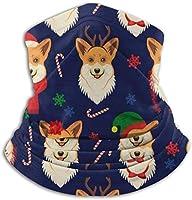 メリークリスマス ネックウォーマー マフラー 帽子 ヘッドバンド 秋冬 防寒 防風 キャップ 多機能 ネック ゲーター 通勤 通学 サバイバルゲーム 通気性 呼吸しやすい 男女兼用 フリーサイズ
