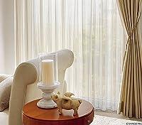 サンゲツ ゴールドのグラデーションストライプ柄 カーテン1.5倍ヒダ SC3775 幅:100cm ×丈:120cm (2枚組)オーダーカーテン