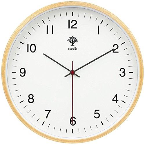 インテリア 掛け時計 アナログ 木製 サイレント子供 部屋 簡単 デジタル コンパクトウォールクロック