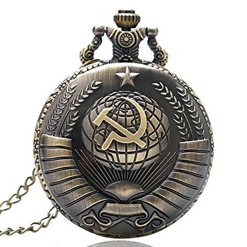 懐中時計 ブロンズ ロシア ソ連 チクルハンマー クォーツ 懐中時計 ネックレス ペンダント 時計 メンズ レディース 誕生日ギフト