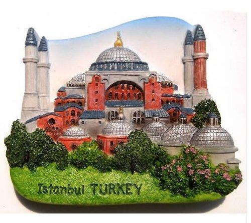 イスタンブール トルコ ハギア ・ ソフィア大聖堂教会 3 D ガレージ グッズ冷蔵庫マグネット