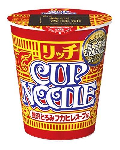 日清 カップヌードル リッチ 贅沢とろみフカヒレスープ 78g×12個