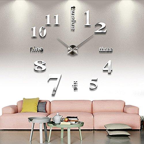 RoomClip商品情報 - Vktech手作り DIY 壁時計 ウォールクロック  ウォールステッカー  時計を壁面に自由自在に設置できます 部屋装飾 模様替えに  簡単 おしゃれ!全10種類 (No.10)