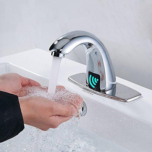 hootech センサー水栓 自動水栓 自動センサー水栓 自動センサー蛇口 洗面蛇口 冷熱混合 クロムめっき 浴室 シンク バスルーム 電池式