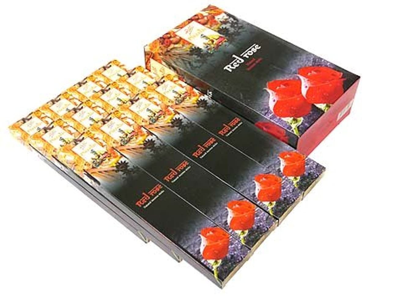 会員受付花輪FLUTE(フルート) レッドローズ香 マサラスティック RED ROSE MASALA 12箱セット