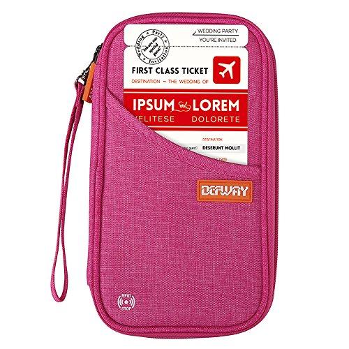 DEFWAY パスポートケース 海外旅行 便利グッズ 12ポケット スキミング防止 出張 ビジネス カバン トラベルポーチ おしゃれ メンズ クラッチバッグ メンズ 通帳 カード入れ スマホ iphone6/6s/7/7 plus 収納バッグ