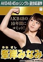 AKB48 45th シングル 選抜総選挙 翼はいらない 劇場盤 特典 生写真 峯岸みなみ AKB48 チームK