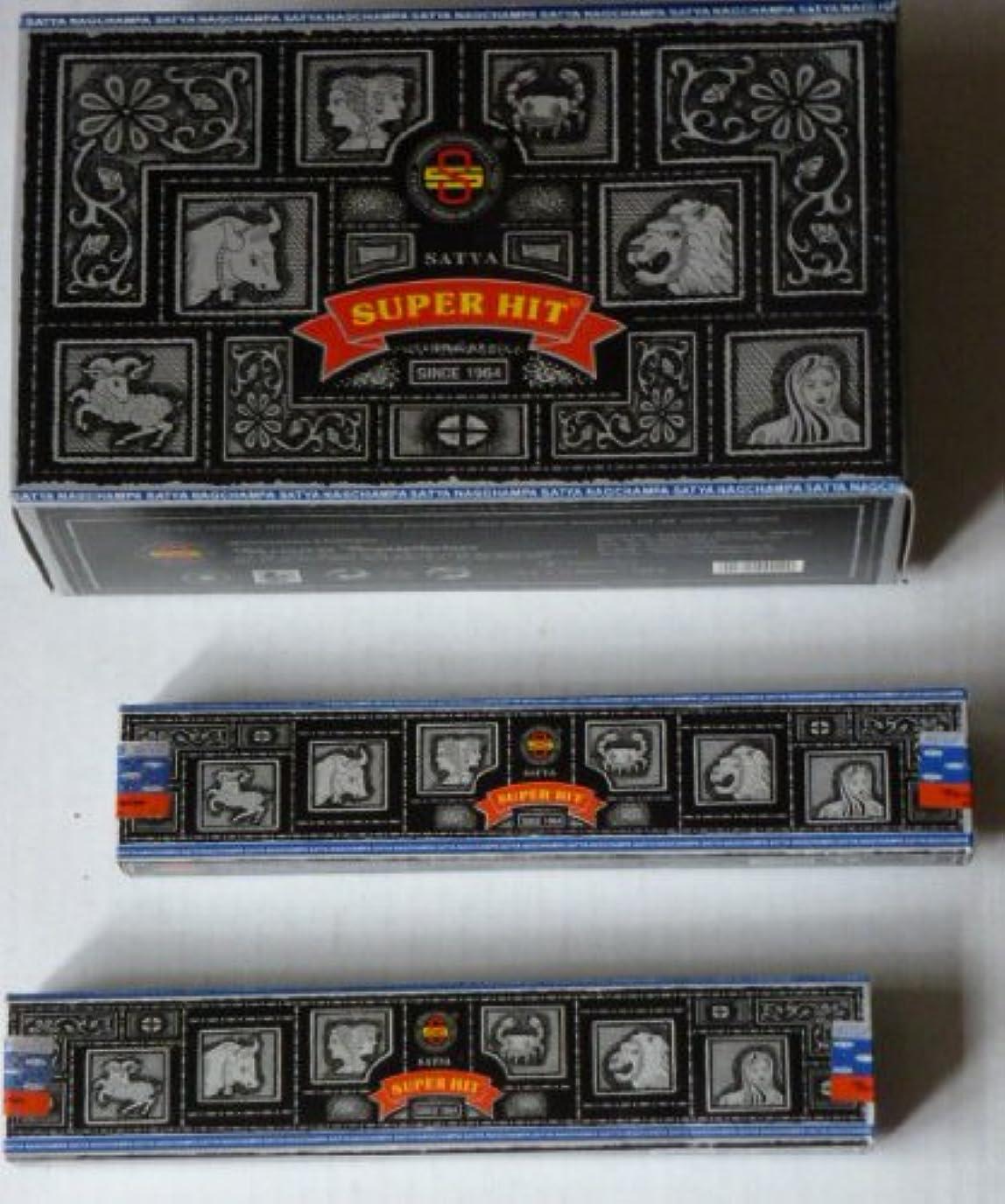 おとこ予備良心的Satyaスーパーヒット香Nag Champa 12ケースボックス( 156 Sticks )