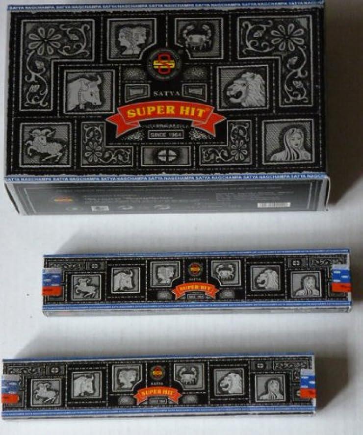平和な火薬治すSatyaスーパーヒット香Nag Champa 12ケースボックス( 156 Sticks )