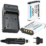 バッテリー( 2- Pack )と充電器for SonyアクションカムHdr - as10、- as15、hdr-as200vr POV