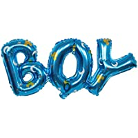 GRALARA Boy / Girl ヘリウム ホイル製 バルーン ベビーシャワー 誕生日パーティー 装飾 全2パターン - ブルー