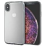 エレコム iPhone Xs ケース 衝撃に強いTPU素材 サイドメッキ加工 【上品な輝きが、iPhoneをリッチに魅せる】 iPhone X対応 シルバー PM-A18BUCTMSV