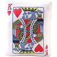 吉祥Beginning Simulated Poker Playingカードクッション耐久性ソファスロー枕ホーム装飾、heartsk
