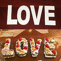 大番号ケーキ缶型diyベーキング0-8番号セットベーキングケーキ型手紙愛ハートシェイプケーキ型用層状アイシングクリームフルーツケーキ結婚式誕生日パーティーの装飾(30 * 14cm,letters LOVE)