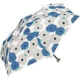 ワールドパーティー(Wpc.) 雨傘 折りたたみ傘 ブルー 50cm レディース ジッパーケースタイプ ピオニ ミニ 552-116 BL