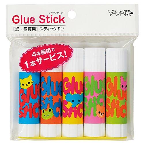 スティックのり Glue Stick 8g 5本パック ASN-8GH-5P