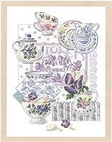 DMC 刺しゅうキット Crockery and Violets BK769
