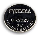 x5 Original PKCELL Cr2025 Lithium Button Cell Coin Batteries 3V