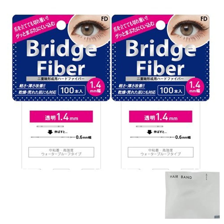 クラス乳製品減少FD ブリッジファイバーⅡ (Bridge Fiber) クリア1.4mm×2個 + ヘアゴム(カラーはおまかせ)セット
