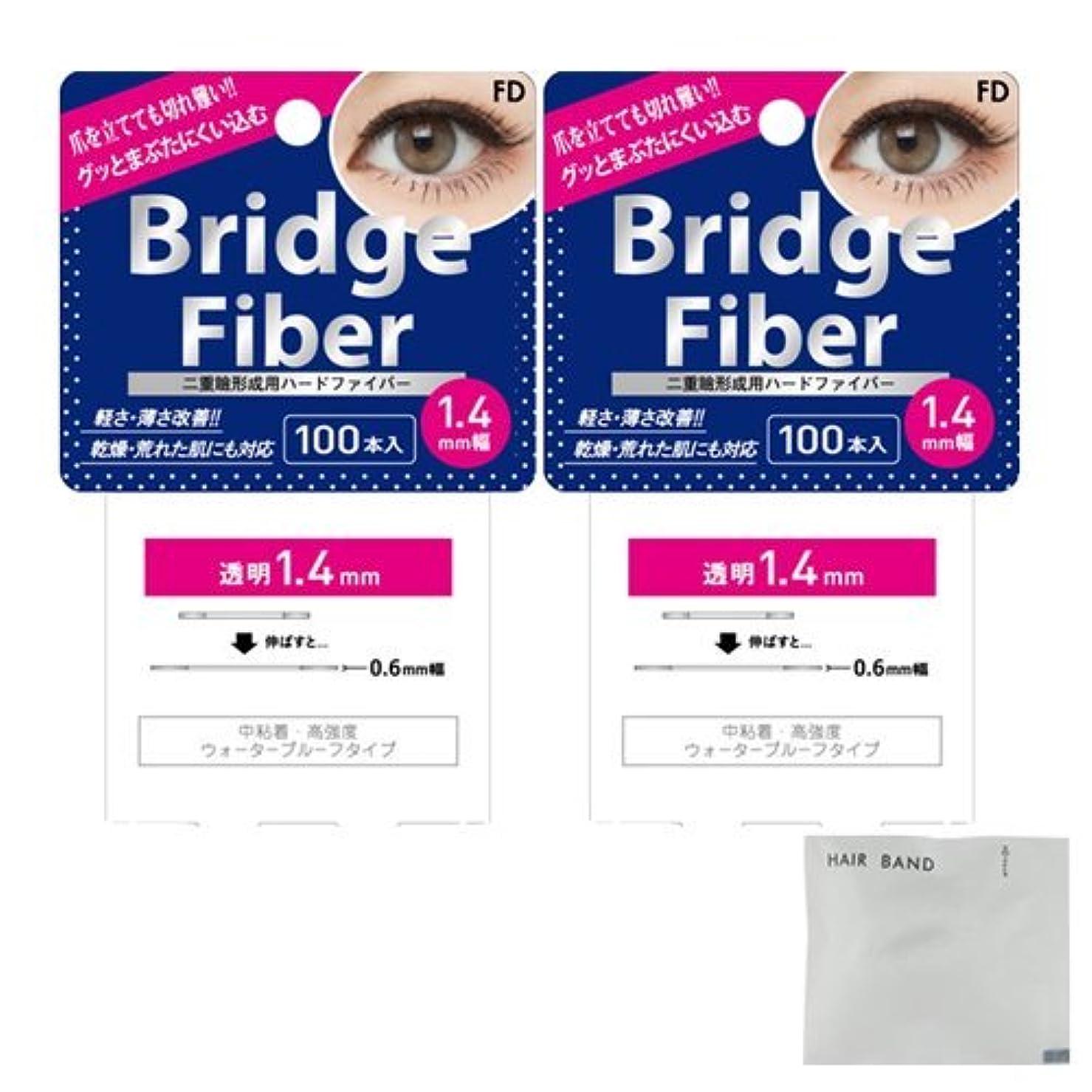 どっち一定息切れFD ブリッジファイバーⅡ (Bridge Fiber) クリア1.4mm×2個 + ヘアゴム(カラーはおまかせ)セット