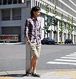 ショートパンツ メンズ 綿麻 ショーツ ハーフパンツ 麻 リゾート 【W051】 スペード画像④