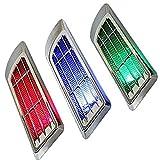 COM-SHOT 【 2個 セット 】 光る エア ダクト 3D ステッカー 【 LED ライト 搭載 】 簡単 取付 おしゃれ 太陽光 発電 MI-STK01
