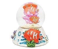 Puzzled魚樹脂石仕上げSnow Globe–Seaライフコレクション–65mm–ユニークなエレガントなギフト、お土産–Item # 9368