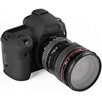 ORight (オーライト) スキンカバー シリコン保護ケース Canon EOS 5D Mark IV 用 液晶保護ガラス付き (ブラック)
