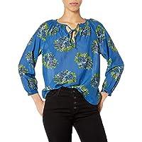 Lucky Brand Women's Long Sleeve V Neck Floral Lyla Top