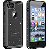 iPhone8 ケース iPhone7 ケース 防水ケース 耐衝撃ケース 4.7インチ対応 360 全方向保護 米軍MIL規格取得 フェイスID認証 Qi充電対応 超軽量 落下防止 高耐久ケース 風呂 雨 プール 海