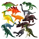 Happy Cherry 人気動物のフィギュア 可愛い 恐竜セット アニマル キッズ 知育玩具 安全 12個セット