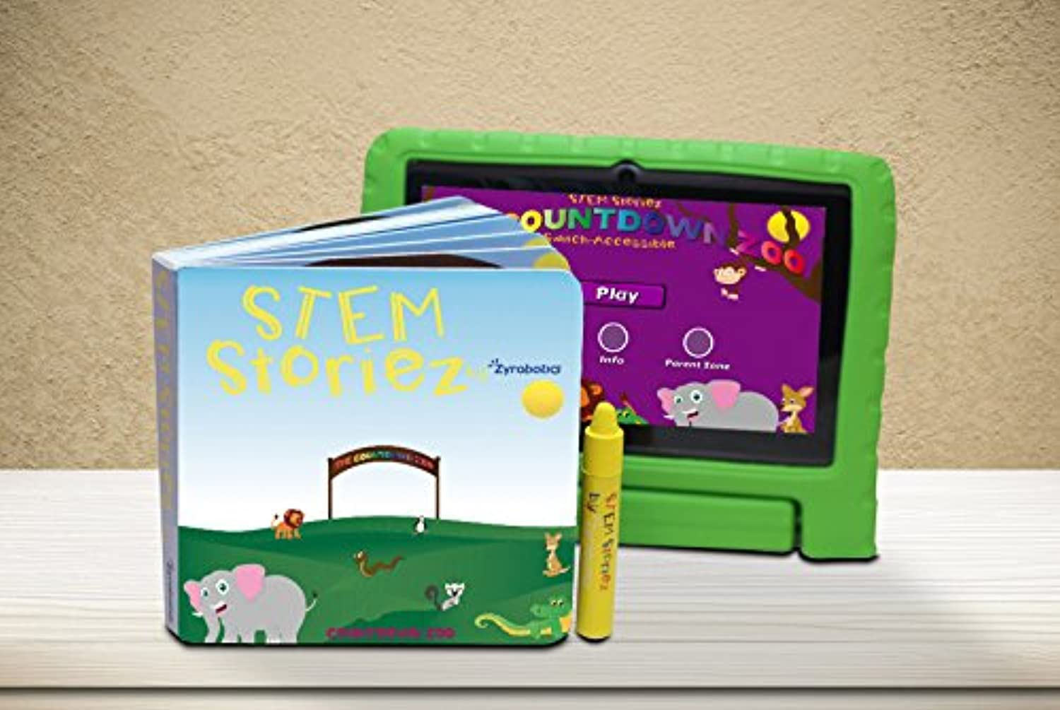 STEM Storiez Books for Early Learners. Interactive Pre-STEM Learning for Kids 3-7 (Countdown Zoo)