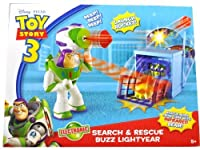 "Mattel Disney Pixar Movie Series ""Toy Story 3"" Electronic Action Figure Play Set - Search and Rescue Buzz Lightyear with"