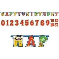 レターバナー ディズニー ミッキーマウス 誕生日 飾り付け 【並行輸入品】 129695