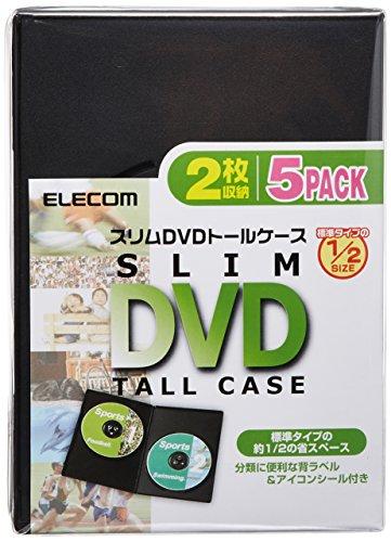 エレコム トールケース DVD BD 対応 スリム 2枚収納 5個セット CCD-DVDS05BK