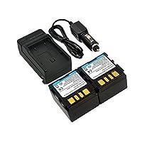 新しい2x 0.7Aバッテリー+充電器for JVC bn-vf707bnvf707bn-vf707l bn-vf707u bn-vf707ue bn-vf707us ly34647–002b