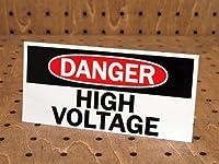 アメリカンパブリックサインステッカー 「危険、高電圧」_SC-PS25-LFS