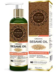 Morpheme Remedies Organic Sesame Oil (Pure ColdPressed Oil) For Hair, Body, Skin Care, Massage, 200 ml