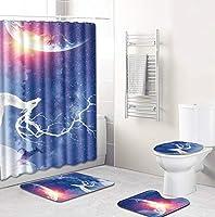 厚いバスルームセット - バスルームカーテンバスルームマットセットトイレセット16個 -エルクシリーズ-8831