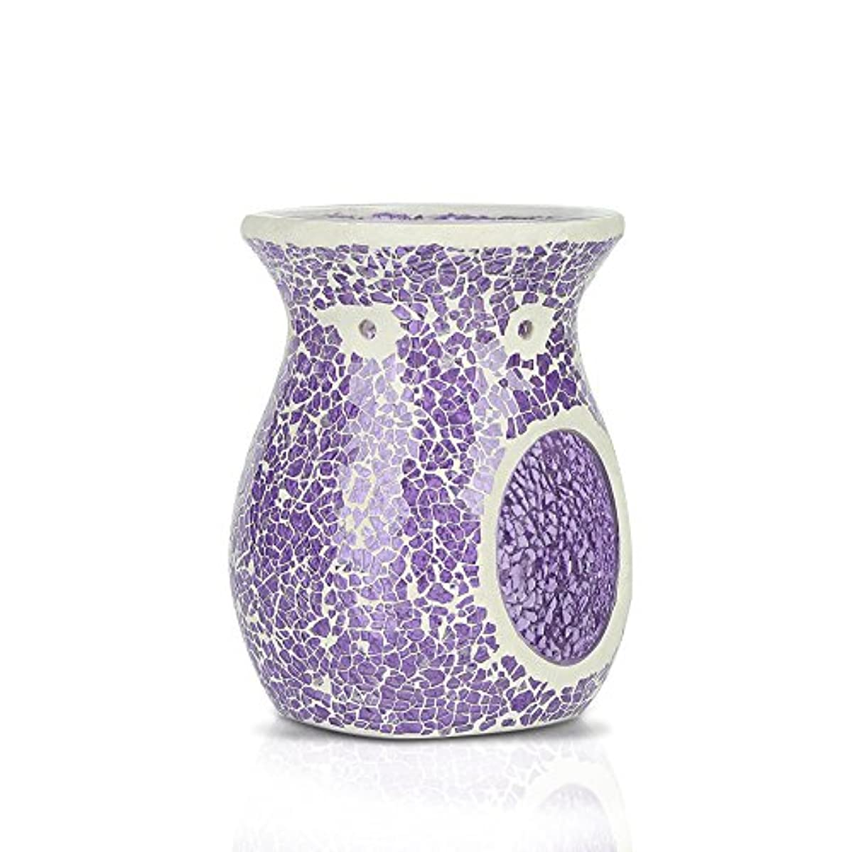 モザイクオイルバーナー/ Essential Oil Burner / TealightsモザイクワックスMelt / Aromatherapy Essential Oil Burner / Hollow Flower...